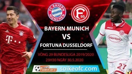 Soi kèo Bayern Munich vs Fortuna Dusseldorf , 23h30 ngày 30/5/2020 – VĐQG Đức