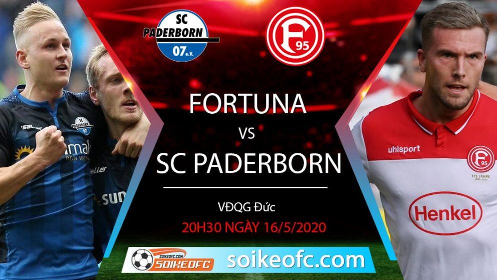 Soi kèo Fortuna Dusseldorf vs SC Paderborn, 20h30 ngày 16/5/2020, VĐQG Đức