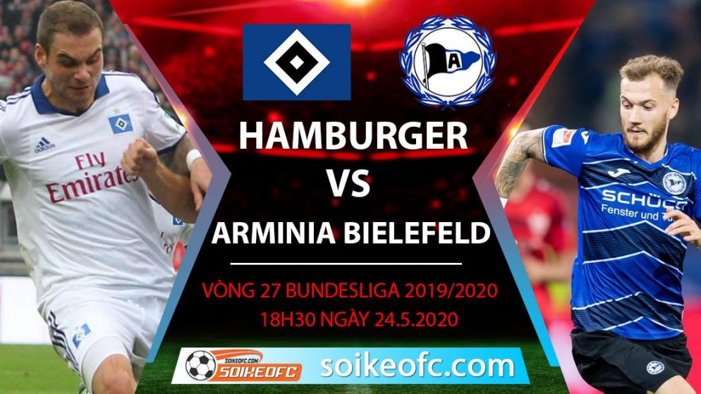 Soi kèo Hamburger vs Arminia Bielefeld , 18h30 ngày 24/5/2020 – Hạng 2 Đức