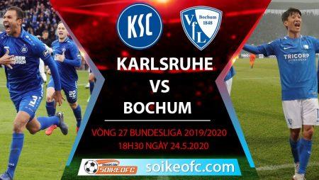 Soi kèo Karlsruher vs Bochumm , 18h30 ngày 24/5/2020 – Hạng 2 Đức