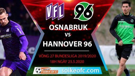 Soi kèo Osnabruk vs Hannover 96 , 18h ngày 23/5/2020, Hạng 2 Đức