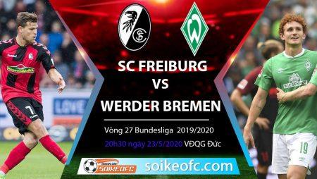Soi kèo SC Freiburg vs Werder Bremen , 20h30 ngày 23/5/2020 – VĐQG Đức