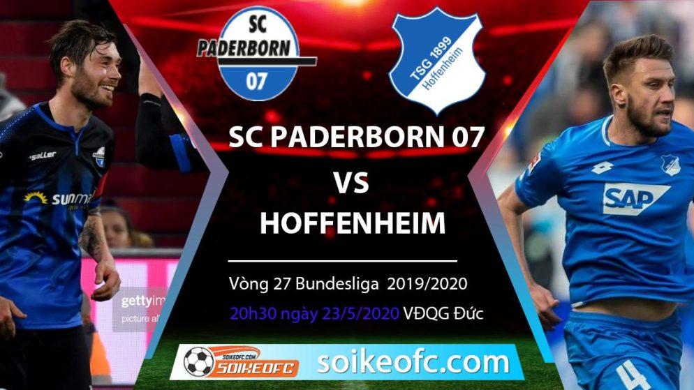 Soi kèo SC Paderborn 07 vs Hoffenheim , 20h30 ngày 23/5/2020 – VĐQG Đức