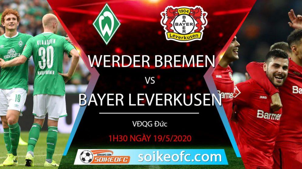 Soi kèo Werder Bremen vs Bayer Leverkusen, 1h30 ngày 19/5/2020 – VĐQG Đức