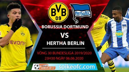 Soi kèo Borussia Dortmund vs Hertha Berlin , 23h30 ngày 6/6/2020 – VĐQG Đức