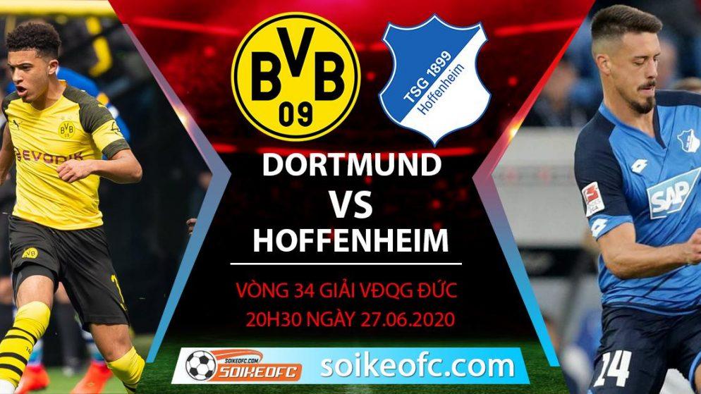 Soi kèo Dortmund vs Hoffenheim, 20h30 ngày 27/6/2020 – VĐQG Đức