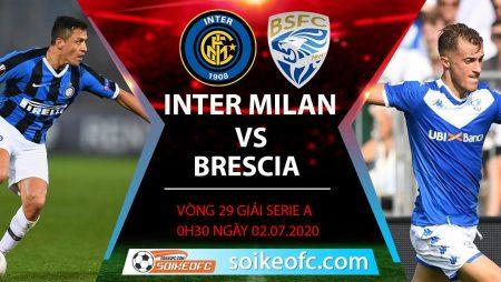 Soi kèo Inter Milan vs Brescia, 0h30 ngày 2/7/2020 – VĐQG Italia