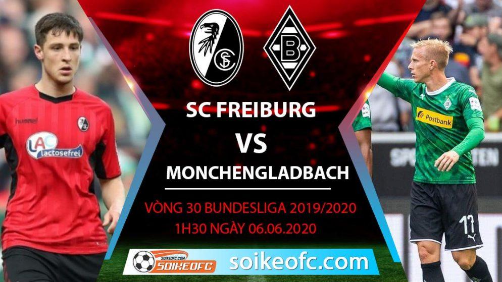 Soi kèo SC Freiburg vs Monchengladbach , 1h30 ngày 6/6/2020 – VĐQG Đức