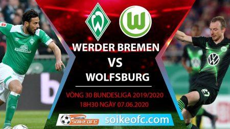 Soi kèo Werder Bremen vs Wolfsburg , 18h30 ngày 7/6/2020 – VĐQG Đức