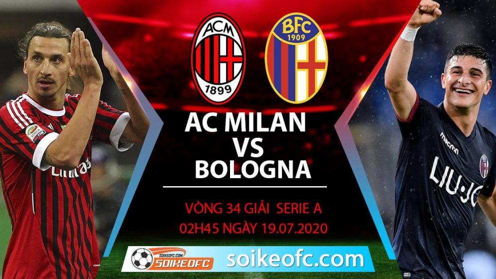 Soi kèo AC Milan vs Bologna, 2h45 ngày 19/7/2020 – VĐQG Italia