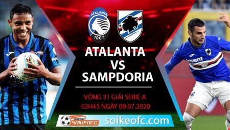 Soi kèo Atalanta vs Sampdoria, 02h45 ngày 9/7/2020 – VĐQG Italia