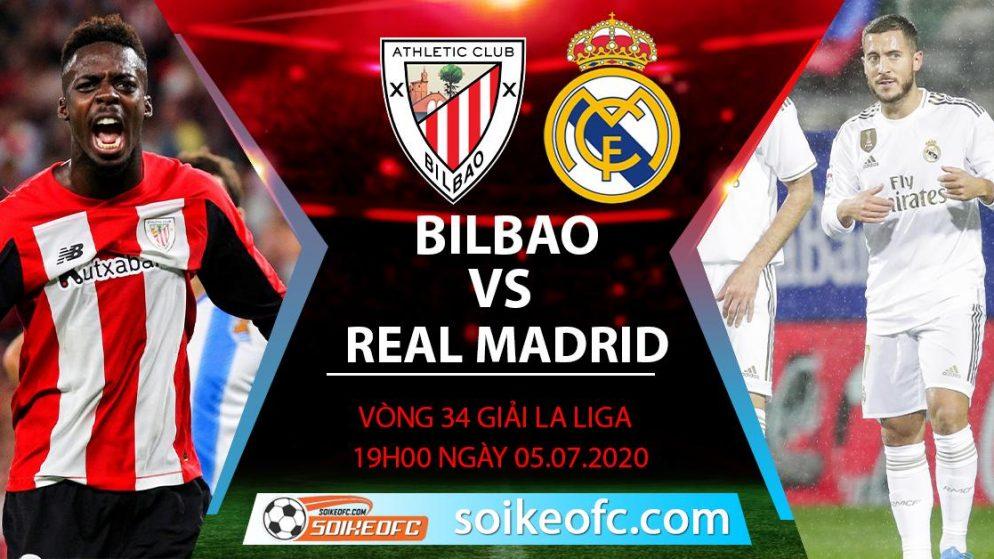 Soi kèo Athletic Bilbao vs Real Madrid, 19h ngày 5/7/2020 – VĐQG Tây Ban Nha