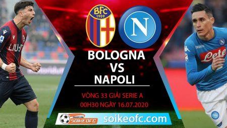 Soi kèo Bologna vs Napoli, 0h30 ngày 16/7/2020 – VĐQG Italia