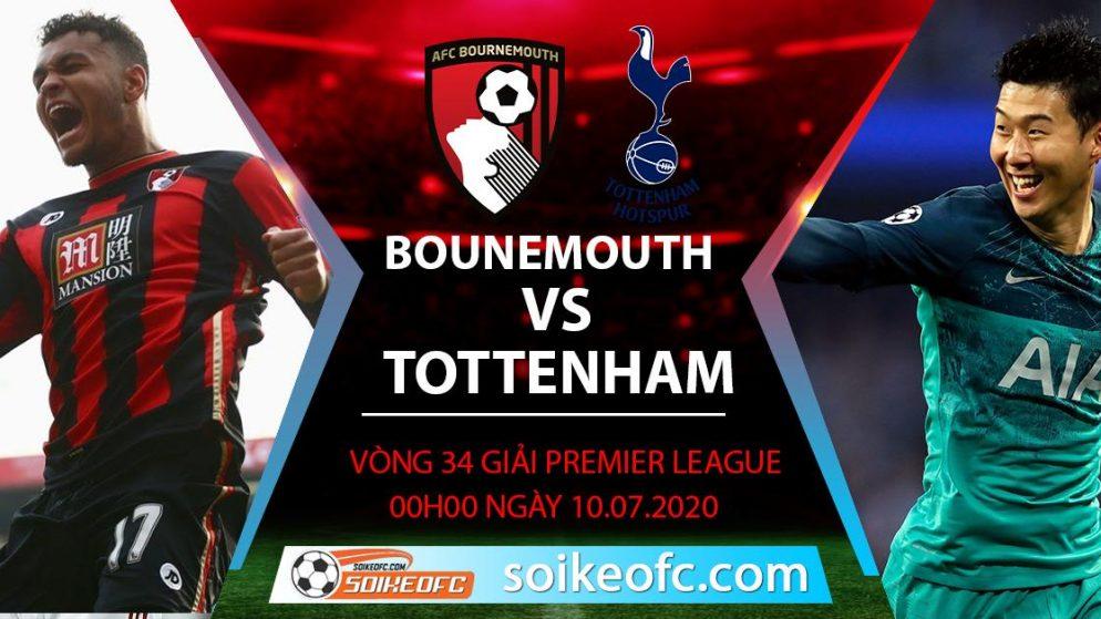 Soi kèo Bournemouth vs Tottenham, 0h ngày 10/7/2020 – Ngoại hạng Anh