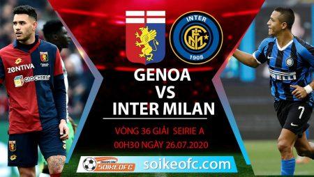 Soi kèo Genoa vs Inter Milan, 0h30 ngày 26/7/2020 – VĐQG Italia