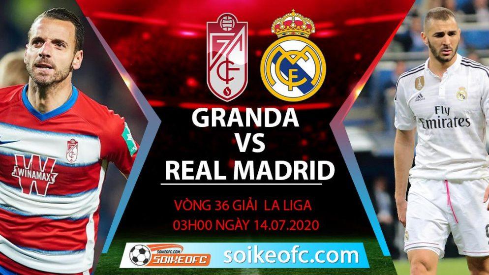 Soi kèo Granada CF vs Real Madrid, 3h ngày 14/7/2020 – VĐQG Tây Ban Nha