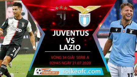 Soi kèo Juventus vs Lazio, 2h45 ngày 21/7/2020 – VĐQG Italia