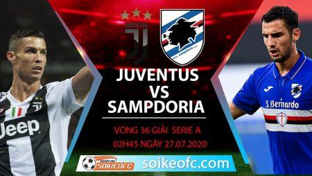 Soi kèo Juventus vs Sampdoria, 2h45 ngày 27/7/2020 – VĐQG Italia