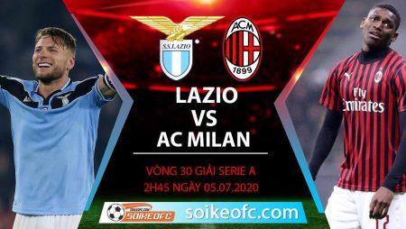 Soi kèo Lazio vs AC Milan, 2h45 ngày 5/7/2020 – VĐQG Italia