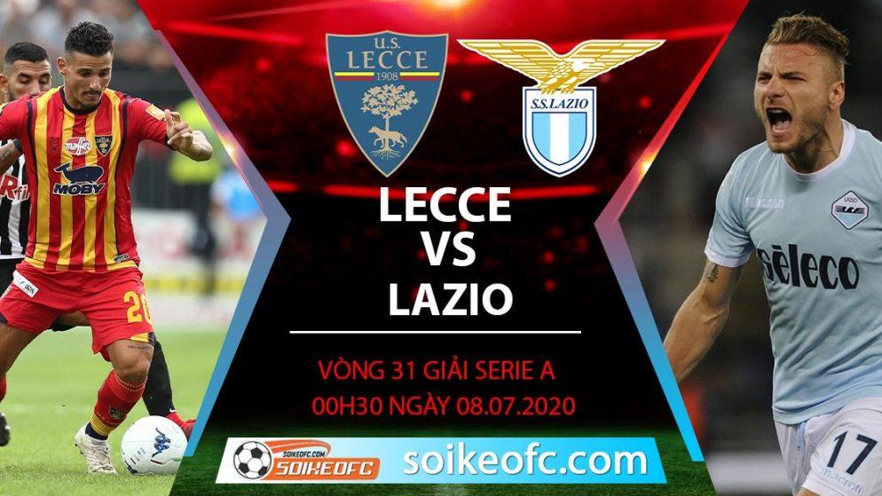 Soi kèo Lecce vs Lazio, 0h30 ngày 8/7/2020 – VĐQG Italia