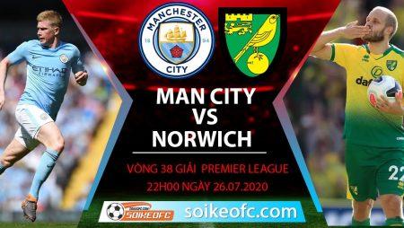 Soi kèo Manchester City vs Norwich, 22h00 ngày 26/7/2020 – Ngoại hạng Anh