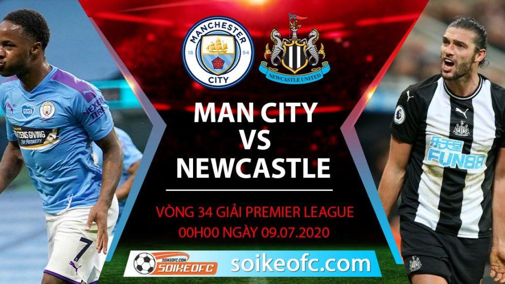 Soi kèo Manchester City vs Newcastle, 0h ngày 9/7/2020 – Ngoại hạng Anh