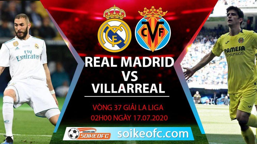 Soi kèo Real Madrid vs Villarreal, 2h ngày 17/7/2020 – VĐQG Tây Ban Nha