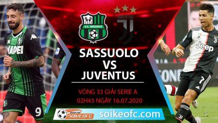 Soi kèo Sassuolo vs Juventus, 2h45 ngày 16/7/2020 – VĐQG Italia