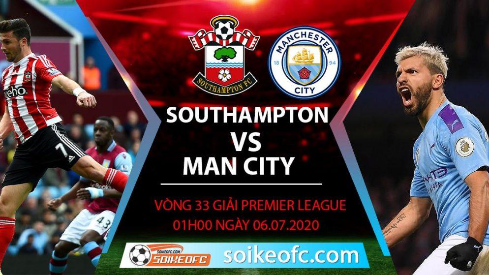 Soi kèo Southampton vs Manchester City, 1h ngày 6/7/2020 – Ngoại Hạng Anh