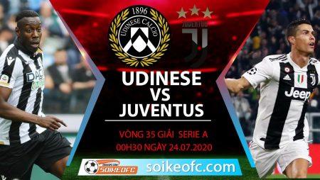 Soi kèo Udinese vs Juventus, 0h30 ngày 24/7/2020 – VĐQG Italia