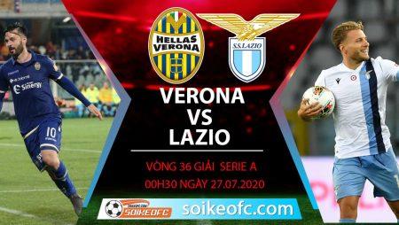 Soi kèo Hellas Verona vs Lazio, 0h30 ngày 27/7/2020 – VĐQG Italia