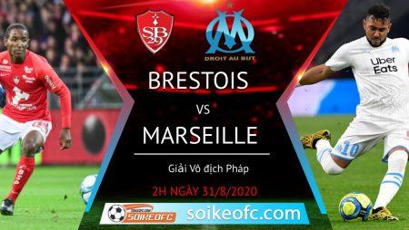Soi kèo Stade Brestois vs Marseille, 2h00 ngày 31/08/2020 – VĐQG Pháp