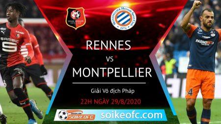 Soi kèo Rennes vs Montpellier, 22h00 ngày 29/08/2020 – VĐQG Pháp