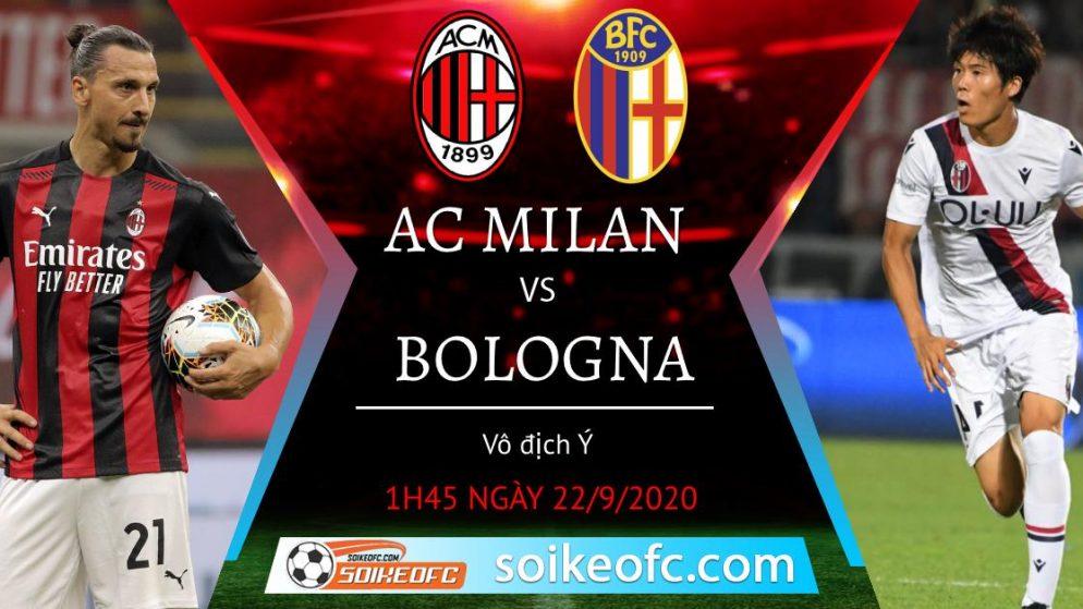 Soi kèo AC Milan vs Bologna, 1h45 ngày 22/09/2020 – VĐQG Italia