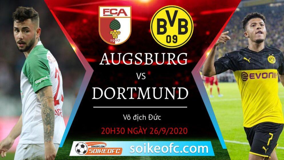 Soi kèo Augsburg vs Borussia Dortmund, 20h30 ngày 26/09/2020 – Giải VĐQG Đức