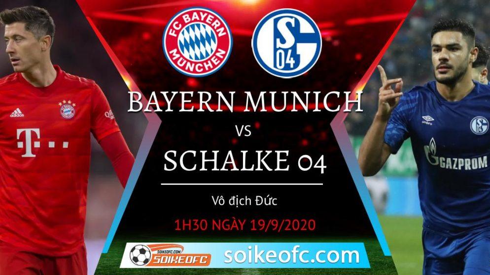 Soi kèo Bayern Munich vs Schalke 04, 1h30 ngày 19/09/2020 – VĐQG Đức