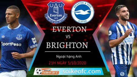Soi kèo Everton vs Brighton, 21h00 ngày 3/10/2020 – Giải Ngoại Hạng Anh