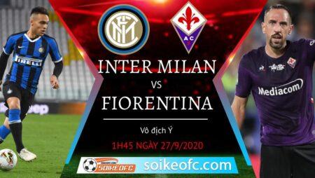 Soi kèo Inter Milan vs Fiorentina, 1h45 ngày 27/09/2020 – Giải VĐQG Italia