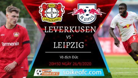Soi kèo Bayer Leverkusen vs RB Leipzig, 20h30 ngày 26/09/2020 – Giải VĐQG Đức