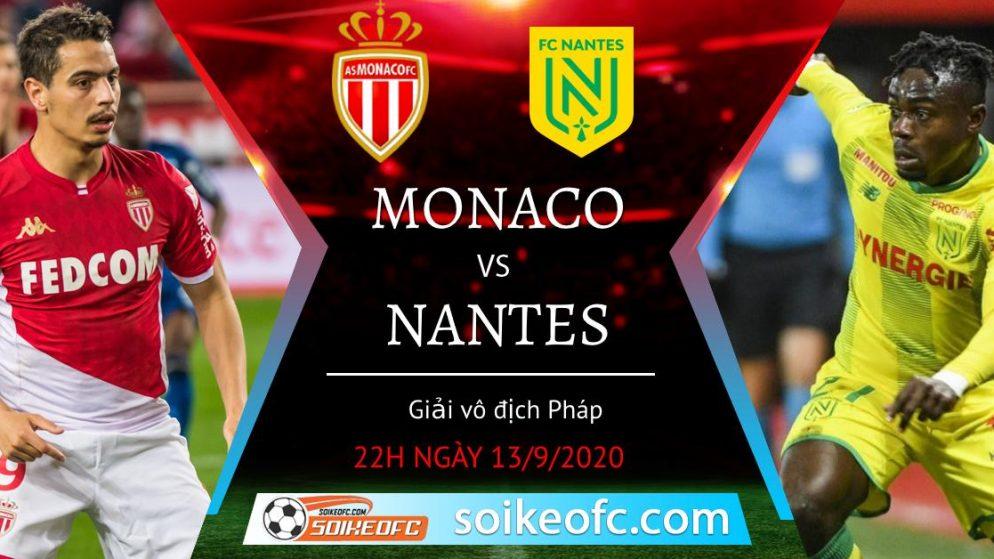 Soi kèo AS Monaco vs Nantes, 22h30 ngày 13/09/2020 – VĐQG Pháp
