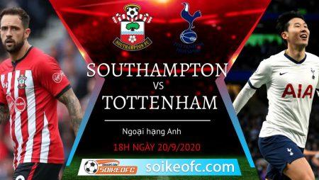 Soi kèo Southampton vs Tottenham, 18h00 ngày 20/09/2020 – Ngoại hạng Anh