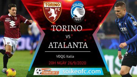 Soi kèo Torino vs Atalanta, 20h00 ngày 26/09/2020 – Giải VĐQG Italia