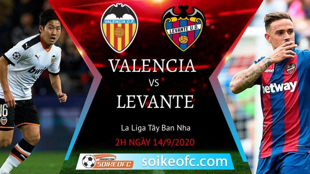 Soi kèo Valencia vs Levante, 2h00 ngày 14/09/2020 – VĐQG Tây Ban Nha