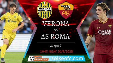 Soi kèo Hellas Verona vs AS Roma, 1h45 ngày 20/09/2020 – VĐQG Italia