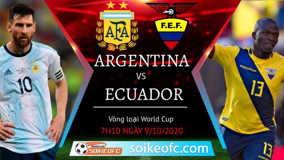 Soi kèo Argentina vs Ecuador, 7h10 ngày 9/10/2020 – Vòng loại World Cup