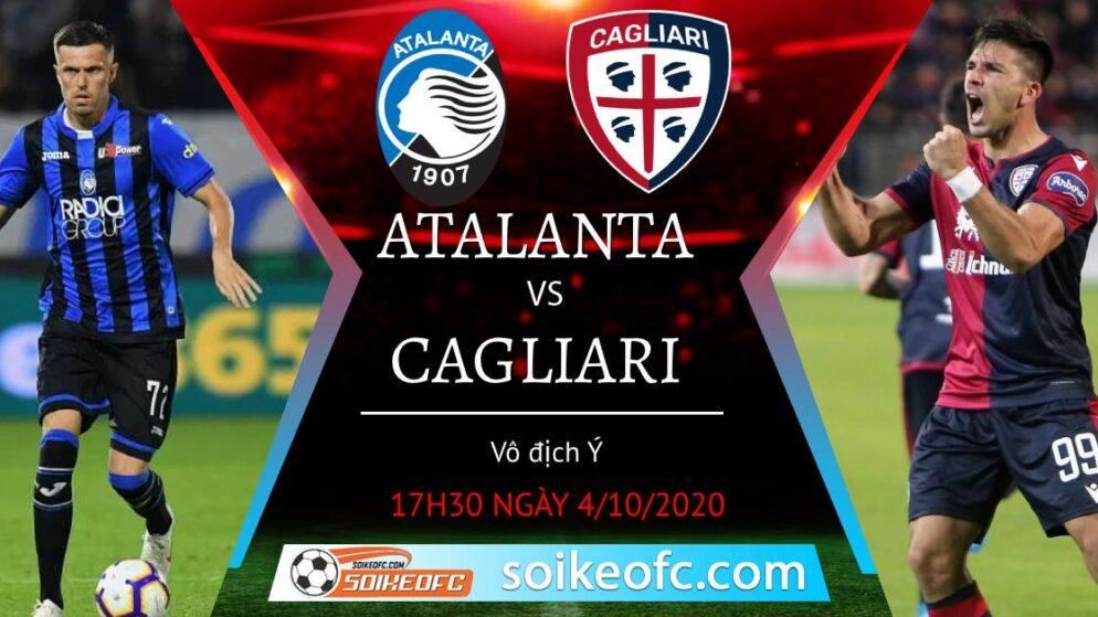 Soi kèo Atalanta vs Cagliari, 17h30 ngày 4/10/2020 – Giải VĐQG Italia