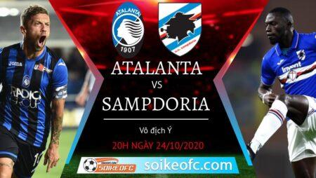 Soi kèo Atalanta vs Sampdoria, 20h00 ngày 24/10/2020 – VĐQG Italia