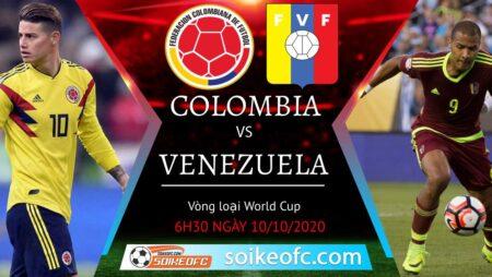 Soi kèo Colombia vs Venezuela, 6h30 ngày 10/10/2020 – Vòng loại World Cup