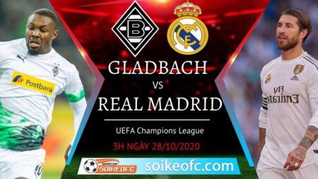 Soi kèo M'Gladbach vs Real Madrid, 03h00 ngày 28/10/2020 – Champion League