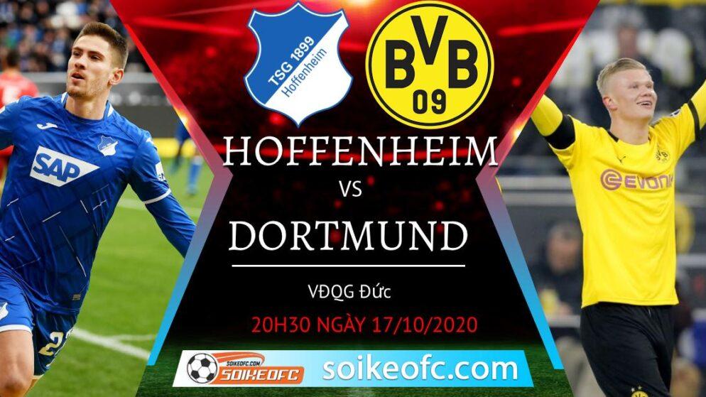 Soi kèo Hoffenheim vs Dortmund, 20h30 ngày 17/10/2020 – VĐQG Đức
